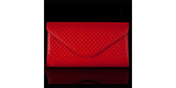 Dámska červená vzorovaná listová kabelka Felice