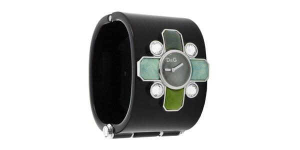 Dámske náramkové hodinky Dolce & Gabbana s farebnými kamienkami