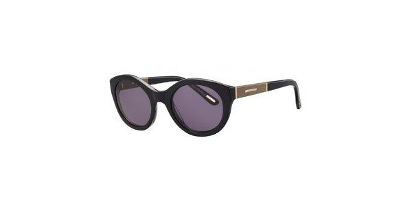 Dámske čierne slnečné okuliare s ozdobnou stranicou Nina Ricci