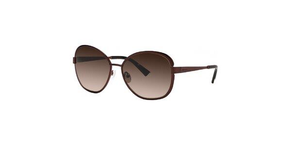 Dámske hnedé slnečné okuliare s gradientnými sklami Nina Ricci