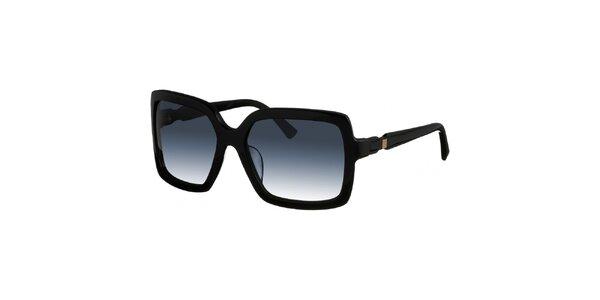 Dámske hranaté čierne slnečné okuliare Nina Ricci