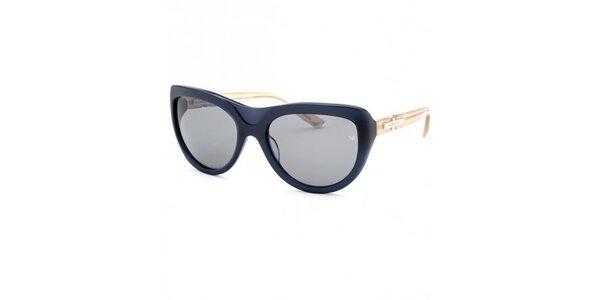 Dámske tmavo modré slnečné okuliare s kontrastnými stranicami Nina Ricci
