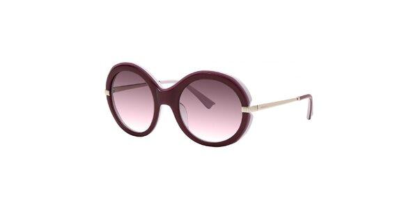 Dámske fialové slnečné okuliare s gradientnými sklami Nina Ricci