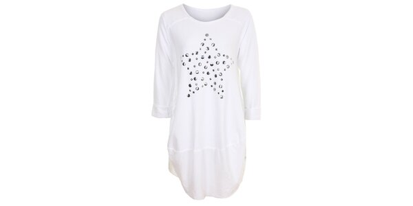 Dámske biele tunikové šaty Sugar Crisp