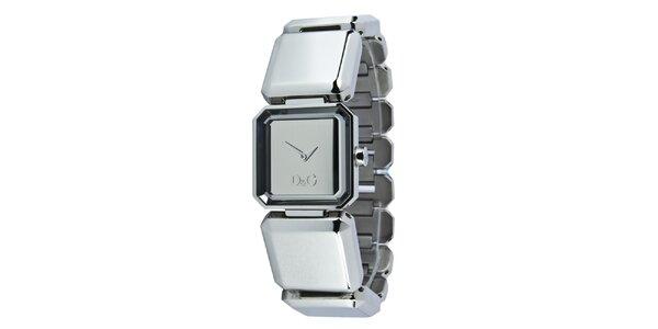 Dámske oceľové hodinky Dolce & Gabbana s kamienkami