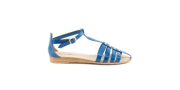 Dámske modré remienkové sandále Daneris