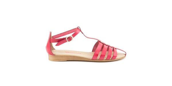 Dámske červené remienkové sandále Daneris
