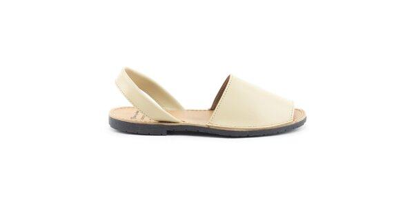Dámske béžové sandále z kože Daneris