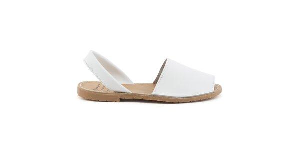 Dámske biele sandále z kože Daneris
