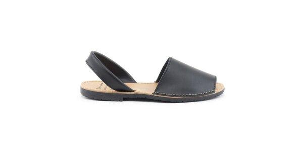 Dámske čierne sandále z kože Daneris