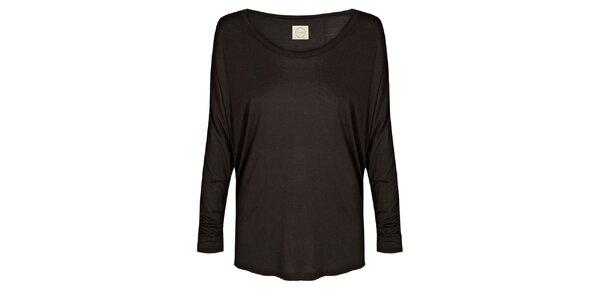 Dámska čierne tričko s netopierimi rukávmi Isabi