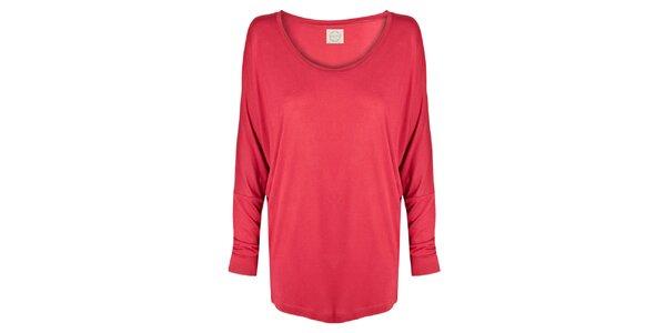 Dámske červené tričko s netopierimi rukávmi Isabi