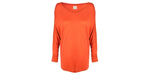 Dámske oranžové tričko s netopierimi rukávmi Isabi