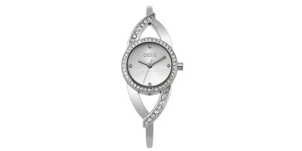 Dámske oceľové hodinky s kamienkami Oasis