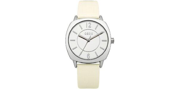 Dámske hodinky s béžovým remienkom Oasis
