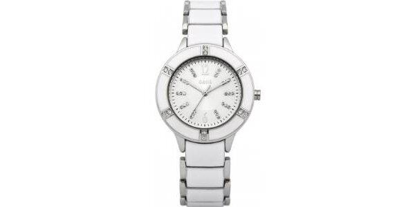 Dámske strieborné analógové hodinky Oasis
