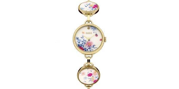 Dámske zlaté hodinky so vzorom Oasis