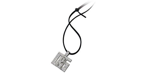 Dámsky oceľový prívesok Dolce & Gabbana s kamienkami