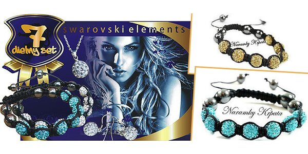 7-dielny set swarovski elements