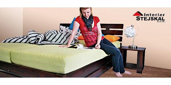 Široký výber postelí z masívu s roštom