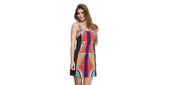Dámske farebné šaty na ramienka Janis