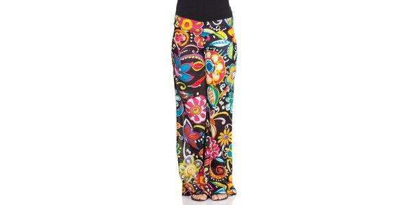 Dámske voľné farebné nohavice Janis