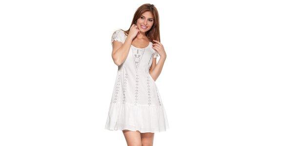 Dámske krémovo biele šaty Janis
