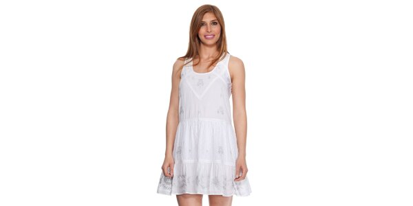 Dámske biele šaty bez rukávov Janis
