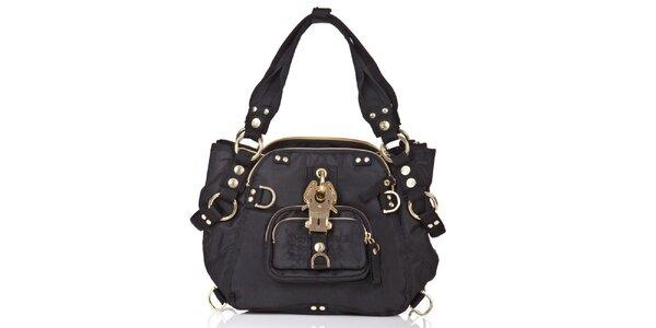 Dámska čierna kabelka so zlatými prvkami George Gina and Lucy