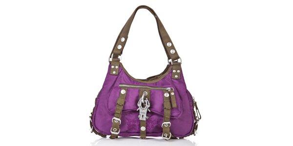 Dámska fialová kabelka s kontrastnými lemami George Gina and Lucy