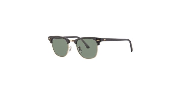 Čierne slnečné okuliare so zelenými sklami Ray-Ban