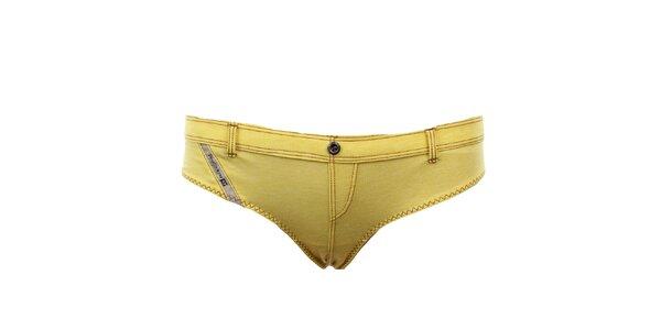 Dámske žlté nohavičky Diesel