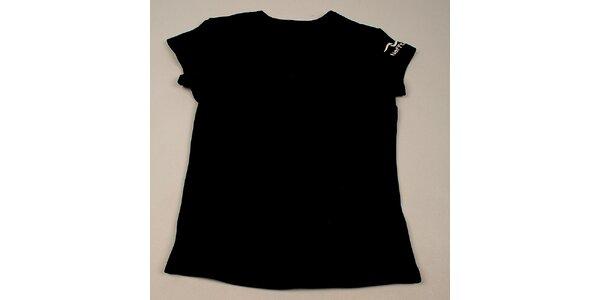 Dievčenské čierne tričko Naffta