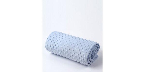Detská modrá deka s bodkami Naf Naf
