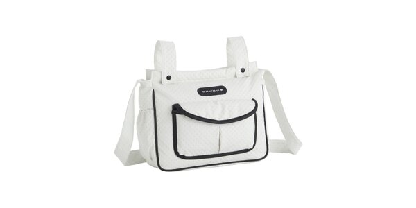 Detská biela taška s černými detailmi Naf Naf