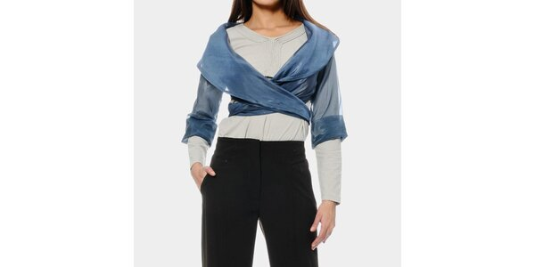 Dámske modré bolerko ODM Fashion