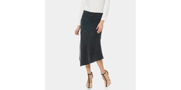 Dámska čierna sukňa s pruhmi ODM Fashion