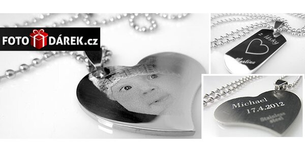 Gravírovaný šperk s vlastnou fotkou a textom