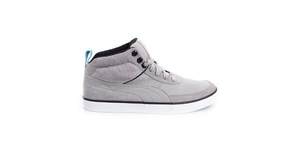 Pánske šedé členkové topánky Puma