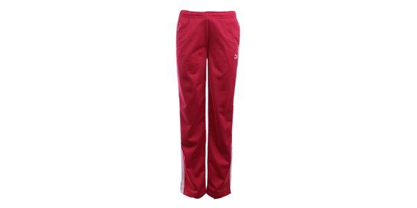 Dámske červenoružové športové nohavice Puma