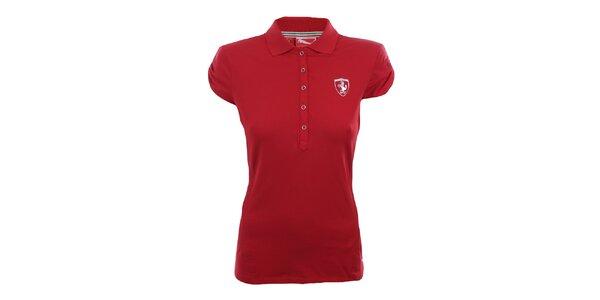 Dámske červené polo tričko Puma