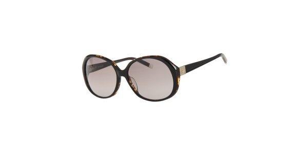 Dámske tmavo hnedé slnečné okuliare Calvin Klein