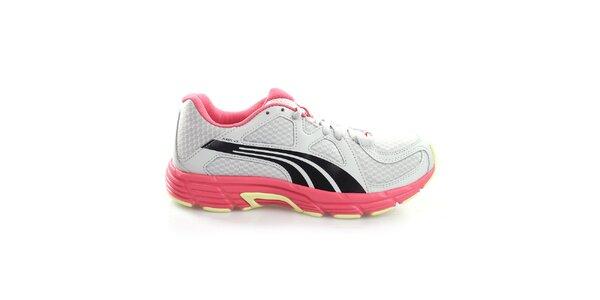 Dámske šedo-čierno-ružové tenisky Puma