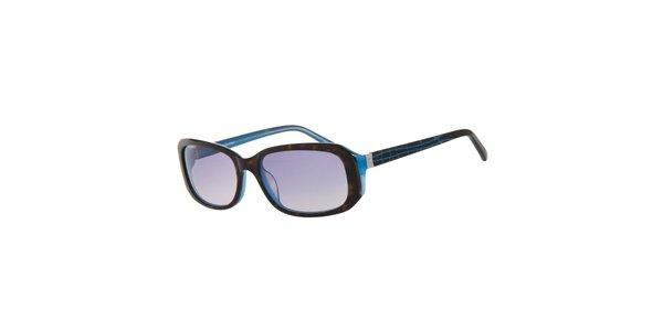 Dámske hnedo-modré slnečné okuliare Calvin Klein