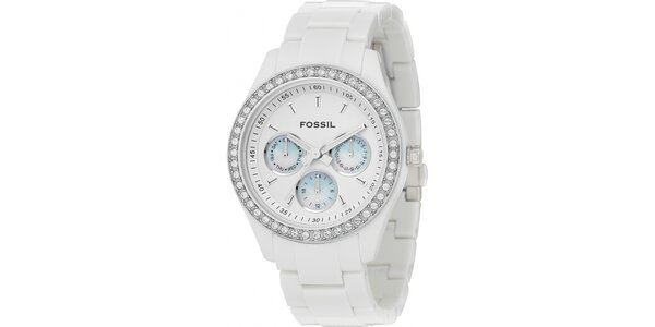Dámske biele hodinky Fossil