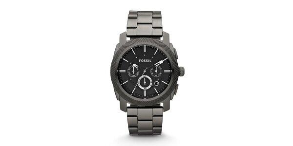 Pánske čierne hodinky Fossil