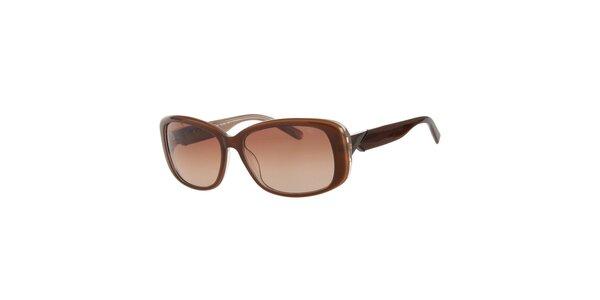 Dámske karamelové slnečné okuliare Calvin Klein