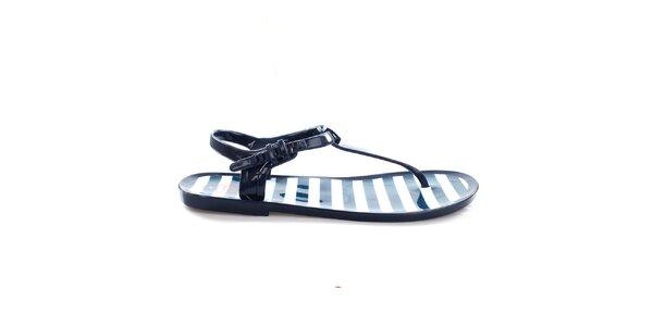 Dámske tmavo modré sandálky s prúžkami So Real