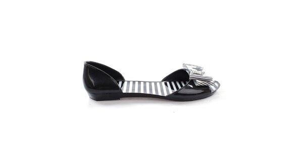 Dámske čierne letné topánočky s mašľou So Real