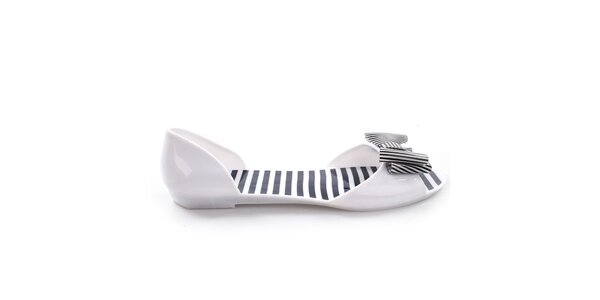 Dámske biele letné topánočky s mašľou So Real